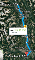 Cranbrook to Radium