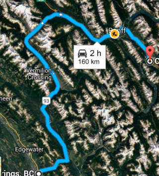 Radium Hot springs to Canmore